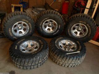 Jeep Wrangler YJ TJ 33 X 12 50 R15 5 on 4 5 tires rims wheels 5PC DICK