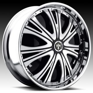 32 Dub Spin Mamba Wheel Set Chrome Spinners 32x10 rwd 5 6 8 Lug