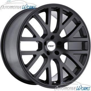 17x8 TSW Donington 5x112 32mm Matte Black Rims Wheels inch 17