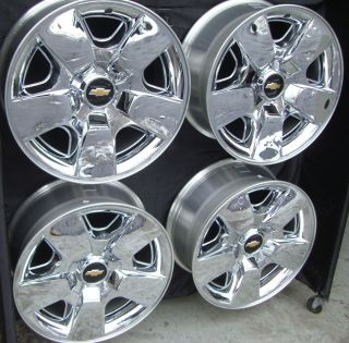 AVALANCHE SILVERADO TAHOE NEW FACTORY CHROME WHEELS RIMS 5417 SET OF 4