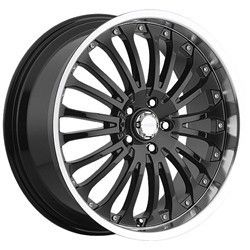 18 inch Menzari Z02 Black Wheels Rims 5x4 5 Lancer Altima Maxima WRX