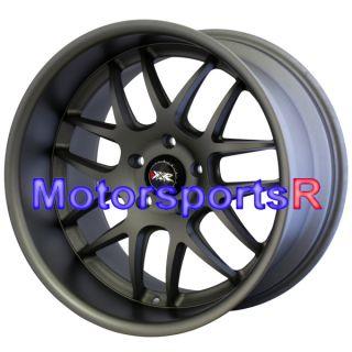 526 Flat Gun Metal Gray Staggered Wheels Rims Stance 5x114 3