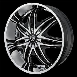 22 inch Staggered Diablo Morpheus Chrome Wheel Rim 5x115 38