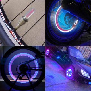 Motorcycle Car Valve Cap Tire Tyre Spoke Wheel Rim LED Neon Light