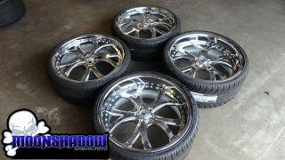 Asanti AF 143 22 Chrome Wheels Rims Mercedes s Class S550 Nexen N3000