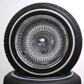 Dayton Style Reverse 100 Spoke Wire Wheels and White Wall Tires