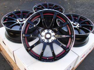 15 Effect Wheels Black Rims 4 Lugs Lancer Nissan Altima Cube Sentra