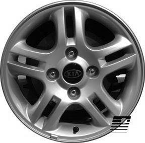 Refinished Kia Spectra 2004 2006 15 inch Wheel Rim OE