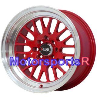 16 16x8 XXR 531 RED Rims Wheels Deep Dish Lip Stance 4x100 03 05 06