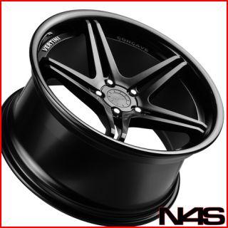 BMW E39 M5 Vertini Monaco Black Concave Staggered Wheels Rims