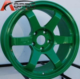 17x9 0 Rota Grid Wheels 5x100 Rims ET30MM Absolute Green