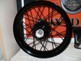 Harley Davidson 16x3 40 Spoke Front Profile Wheel Gloss Black