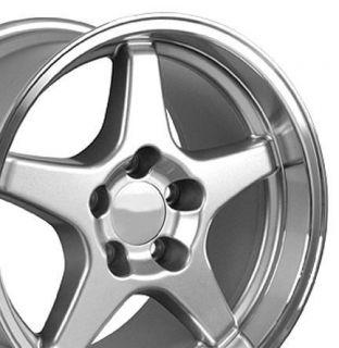 17 9 5 11 Silver ZR1 Style Wheels Rims Fit Camaro Corvette