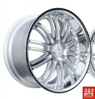 22 inch Rims Wheels XIX x23 BMW Silver Chrome Lip Wheels Rims 535i