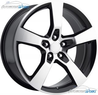 Replica Chevy Camaro SS 5x120 40mm Black Machined Wheels Rims Inch 20