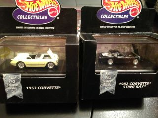 hot wheels 1998 collectibles limited edition + case 2 car corvette lot