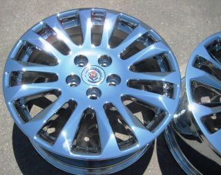 18 Factory GM Cadillac cts Sedan Chrome Wheels Rims 2008 13
