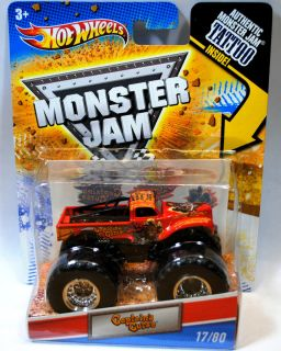 Hot Wheels 2011 Monster Jam Truck Tattoo Series Captains Curse