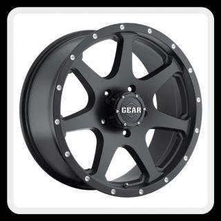 17 Gear Alloy Smoke Black Rims 37x12 50x17 Nitto Trail Grappler Tires