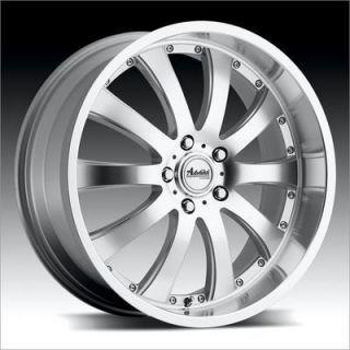 Advanti A9 Costola 18x8 5x120 42 Silver w Machine Face Lip Wheels Rims