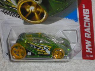 Hot Wheels 2013 HW Racing x Raycers Series Vandetta Clear Light Green