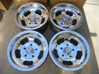 Newly Polished 15x7 5 on 5 5 Slot Mag Wheels Ford Van Truck Gasser