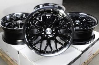 17 Black Wheels Rims 5 Lugs Legacy Outback Kizashi Corolla Celica Vibe