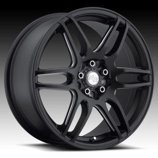 17 inch Niche NR6 Black Wheels Rims 5x4 5 5x114 3 45 Acura CL RL TL