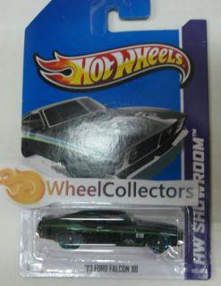73 Ford Falcon XB Black 198 2013 Hot Wheels Case G