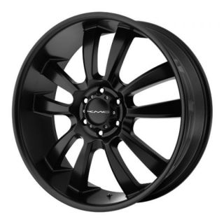 22 inch KMC Black Wheels Rims 5x5 5 5x139 7 Dodge RAM 1500 Ford Bronco