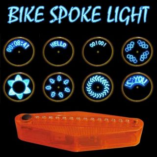 New Bike Bicycle Wheel Spoke Blue LED Light 40 Patterns