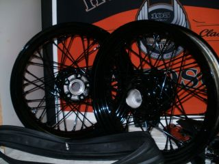 Harley Davidson OEM 40 Spoke Wheel Set Gloss Black
