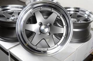 15x8 Effect Wheels Rims 4x100 Zero Offset Civic Corolla Escort Accord