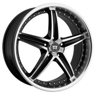 17 inch Motegi Racing MR107 Black Wheels Rims 5x4 5 5x114 3 45
