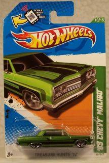 2012 Hot Wheels Treasure Hunt 60 65 Chevy Malibu 10 15