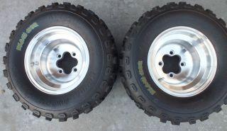 Spun Aluminum Rear Rims Wheels Honda TRX 450R KFX400 250R 400EX LTZ400