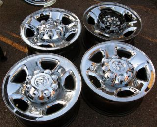 OEM Dodge 1500 2500 3500 Chrome Clad 8 lug 17 steel wheels rims Free S