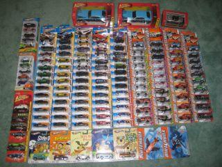 Huge Lot of Over 150 Hot Wheels Matchbox Johnny Lightning Diecast Cars