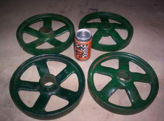 John Deere Hit Miss Gas Engine 1 1 2 3 HP Cast Iron Cart Wheels