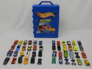 Lot of 48 Hot Wheels 1967 2004 & Hot Wheels 48 Car Carry Case Played w