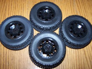 Associated SC10 4X4 Front Rear Tires 12mm Wheels Also Fit slash blitz