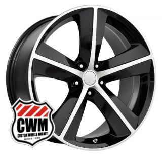 Challenger SRT8 Style Black Wheels Rims also fit Charger 2006 2012