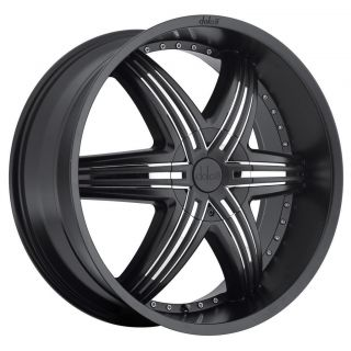 22 inch 22x9 5 Dolce DC48 Black Wheels Rims 5x115 20 Charger 300C