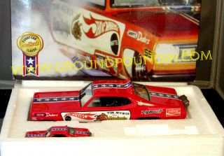 Tom The Mongoose McEwen Hot Wheels Plymouth Duster Funny Cars Legends