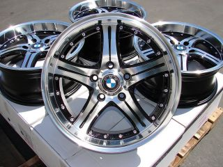 18 Effect Wheels Black Bimmer Rims BMW 128 135 318 323 325 328 330 335