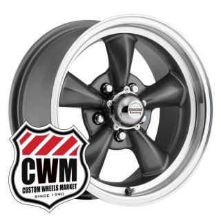 15x6 Charcoal Gray Wheels Rims 5x4 50 lug pattern for Ford Mustang 65