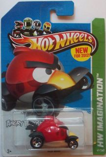 2012 Hot Wheels New Models Red Bird Angry Birds 47 50 2013 Card