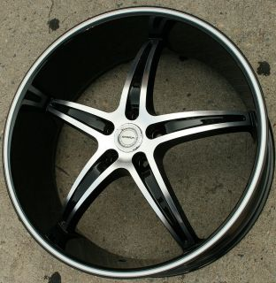 Strada Riga 232 22 Black Rims Wheels Infiniti Q45 90 06 22 x 8 5 5H