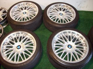 20 Silver OEM Factory BMW Wheels Tires E38 E65 E66 740 745 750 760 101