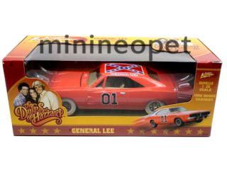 DODGE CHARGER 1 25 GENERAL LEE DUKES OF HAZZARD CHASE CAR WHITE WHEELS